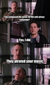 Piracy Meme - jj jameson memes quickmeme