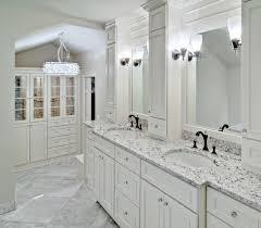 Using Kitchen Cabinets For Bathroom Vanity Kitchen White Ice Granite Bathroom Vanity With White Cabinet Big