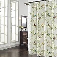 Shower Curtain Green Amazon Com Collections Etc Birds And Blooms Floral Shower Curtain