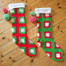 crochet christmas stockings pattern crafts crochet holidays