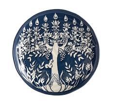 menorah tree of tree of menorah salad plate set of 4 pottery barn