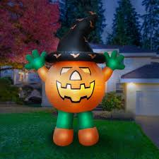 amazon com holidayana halloween inflatable giant 10 ft pumpkin