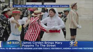 james corden brings mary poppins to the street youtube