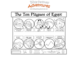 bible coloring page for kids ten plagues of egypt