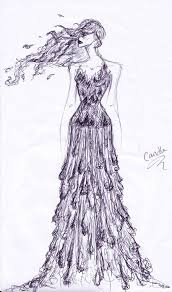 melting candle dress sketch by autumnprincess on deviantart
