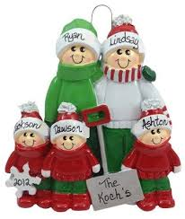 snow shovel family of 5 made of resin family