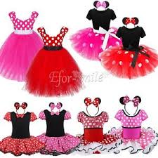 kids girls baby toddler minnie mouse party costume dress up ballet