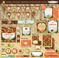 woodland themed baby shower decorations woodland theme baby shower decorations printable party pack