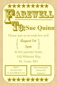 Party Invitation Cards Templates Going Away Party Invitations Farewell Burlap Greta U0027s Party