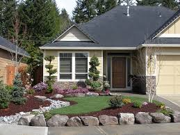 front yard stone lines home landscaping ideas to inspire your own