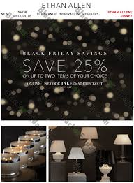 ethan allen black friday sale 2017 cyber week 2017