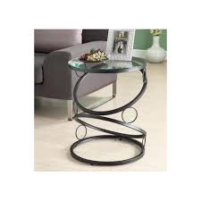 contemporary accent tables amazon com monarch specialties metal accent table with tempered