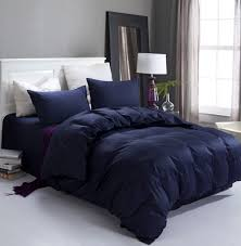 Navy Blue Bedding Set New Navy Blue High Quality Home And Hotel Bedding Set 2 Pillow