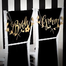 wedding chair signs wedding chair signs decoration and groom chairs signs