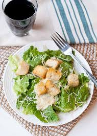 easy caesar salad with homemade croutons neighborfood