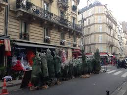 this is how they sell christmas trees in paris u2013 tripping over the