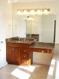 Bathrooms With Double Vanities Bedroom The Double Sink Vanity With Make Up Area Austin Bathroom