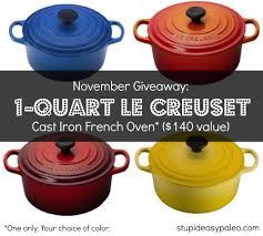 november giveaway 1 quart le creuset french oven 140 value