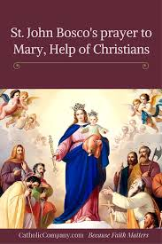 thanksgiving prayer to mother mary prayer to mary help of christians for help in all our necessities
