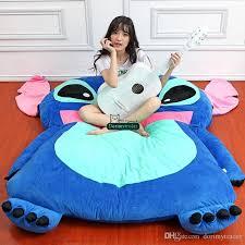 Beanbag Bed Dorimytrader Japan Anime Stitch Tatami Giant Soft Plush Thickened