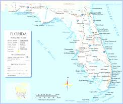 Florida Map With Towns by Map Of North Florida Coast Panhandle With Cities Simple Map Usa