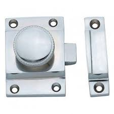 cupboard catch cabinet door handles with knurled knob in polish
