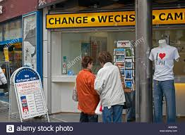 bureau de changes two shopping for postcards and bureau de change strøget stock