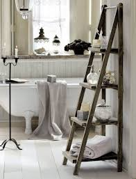 Free Standing Towel Stands For Bathrooms Rustic Diy Ladder Towel Stands For Bathroom Idea Floor Towel Rack