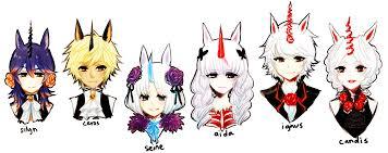 ocs unicorns line up by onisuu on deviantart