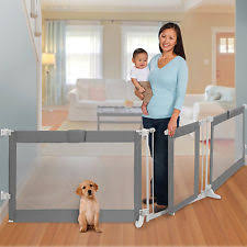 standing pet gate extra wide folding dog room divider baby safety