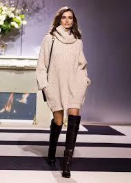 sweater dress and le fashion andreea diaconu sweater dress the knee boots