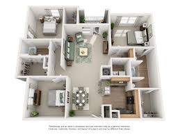 Lenox Floor Plan Luxury 1 2 And 3 Bedroom Floor Plans Carrington Park Apartments