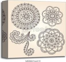 canvas print henna flower mandala vector designs henna mehndi