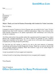 you letter for business partnership with gratitude for valued