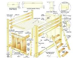 Bunk Bed Design Plans Loft Bed Plans Loft Bed Design Loft Bed Frame Plans