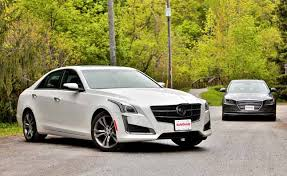 cadillac cts vs 2014 cadillac cts vs 2015 hyundai genesis car reviews