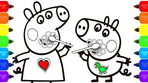peppa pig coloring pages how to color peppa pig family nursery