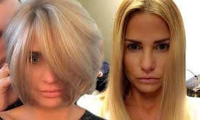 pics of new short bob haircuts on jordan dunn and lilly collins katie price unveils dramatic new hairdo chopping her blonde locks on