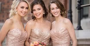 metallic gold bridesmaid dresses runway to wedding day sequin bridesmaid dresses pretty happy