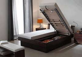 ideas for small bedroom storage fabric covered bed frames gray