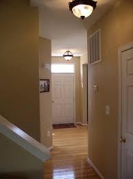 interior trendy ceiling lights design with warm brown hallway