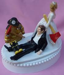 fireman wedding cake topper wedding cake topper fireman firefighter groom themed w garter