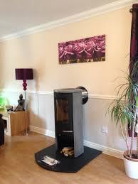 termatech tt20s soapstone stove sitting on a honed black