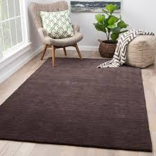 Solid Black Area Rugs Constanz Handmade Solid Black Area Rug 2 X 3 Free Shipping