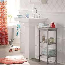 pedestal sink storage ideas midcityeast