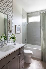 this small guest bathroom packs in a lot of style with a fully