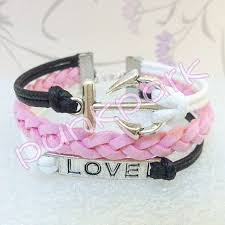 Items Similar To Love Anchors - 146 best bracelets images on pinterest braided bracelets