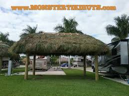 How To Build A Tiki Hut Roof Port St Lucie Florida Tiki Huts U0026 Chickee Huts Monster Tiki Huts