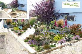 idee amenagement jardin devant maison un jardin bleu et blanc jpg