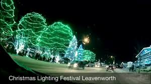 christmas lighting 2016 leavenworth wa youtube